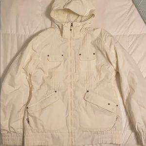 White Burton snow jacket